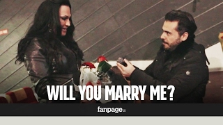 Download A trans woman receives a marriage proposal at a movie theater in Naples Video