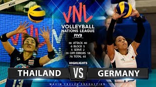 Download Thailand vs. Germany | Highlights | Women's VNL 2019 Video