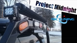 Download ″Project Midnight″ MicTuning 18w LED Pods and 100w Mini Light Bar Install on Back Rack Video