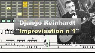 Download Django Reinhardt ″Improvisation n°1″ (1937) - jazz guitar solo transcription video by Gilles Rea Video