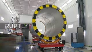 Download Inside Russia's new intercontinental ballistic Sarmat missile factory Video