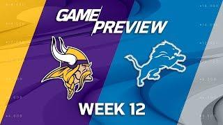 Download Minnesota Vikings vs. Detroit Lions | NFL Week 12 Game Preview | NFL Playbook Video