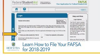 Download Learn How to File Your FAFSA for 2018-2019 Video