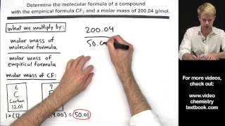 Download Calculating Molecular Formula from Empirical Formula Video