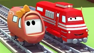 Download Troy the Train and the little Train's Accident in Train Town 🚆🚂 Trains & Trucks cartoon for Kids Video