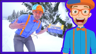 Download Winter Blippi Video | Play Time in the Snow with Snowmobile Video
