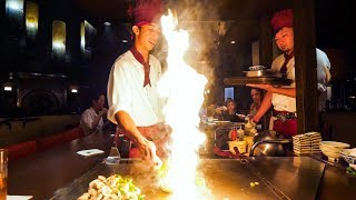 Download Teppanyaki LOBSTER & STEAK - Amazing Knife Skills and Fire Cooking in Waikiki, Hawaii! Video
