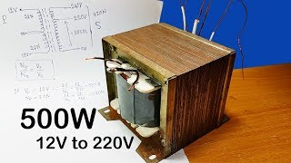 Download How to calculating turns and voltage of transformers for inverter 12V to 220V 500W (part 1) Video