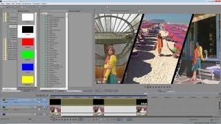 Download Sony Vegas Pro 13 - маска по диагонали в видео Video
