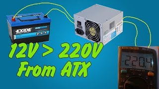 Download Inverter 12V to 220V From ATX PSU | How to make Video