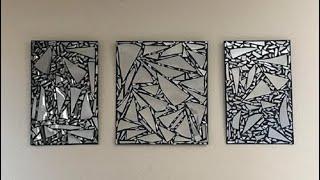 Download DIY Broken Mirror Wall Art Decor Video