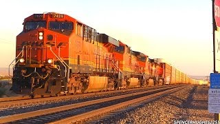 Download BNSF Trains in Mojave, CA (March 22nd, 2014) Video