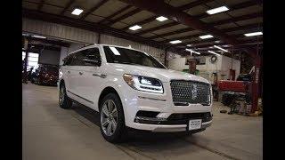 Download 2018 White Platnium Tri Coat Metallic Lincoln Navigator L Reserve 4x4 LT6463 Motor Inn Auto Group Video