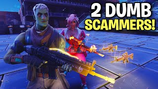 Download TWO Insanely dumb RICH Scammers! 🤑👌 (Scammer Get Scammed) Fortnite Save The World Video