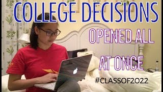 Download waited for ALL my IVIES/UCs then opened them all AT ONCE (College Decisions 2018) Video