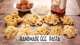 Download Handmade Egg Pasta | Hand Rolled & Shaped 9 Ways Video