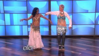 Download Ellen Learns to Belly Dance Video