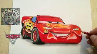 Download COMO DIBUJAR AL RAYO McQUEEN - CARS 3 / how to draw lightning mcqueen Video