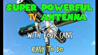 Download ANTENNA HDTV MANUFACTURED AT HOME * Powerful Reception * Video