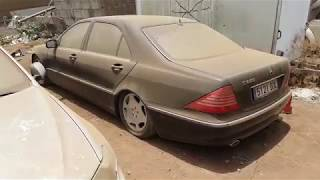 Download Mercedes S600 field find 1st start in years. Old start cold start. Video