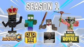 Download Monster School: Season 1 All Episodes - Minecraft Animation Video