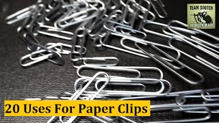 Download 20 Paper Clip Hacks for Survival & Everyday Uses Video