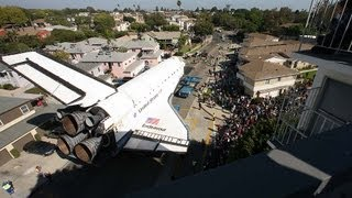 Download Space shuttle Endeavour's trek across LA: Timelapse Video