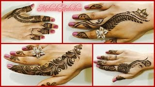 Download 4 easy Beautiful Mehndi Designs For Quick Henna Party|Latest simple heena Hatho ki mehendi Video