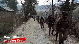 Download Five militants, four forces' personnel killed in ongoing Kupwara gunfight Video