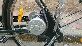Download Build a powerful Electric Bicycle at home(PMDC 250W GEARED MOTOR) Video