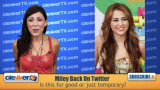Download Miley Cyrus Returns To Twitter For Gypsy Heart Tour Video