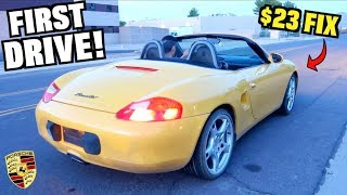 Download $500 SALVAGE Porsche First Drive! Cheap $23 Repair (Budget Boxster Ep.2) Video