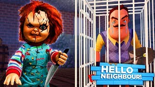 Download Minecraft HELLO NEIGHBOR - CHUCKY KIDNAPS THE NEIGHBOR AND TRAPS HIM IN HIS OWN BASEMENT!! Video
