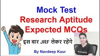 Download Mock Test RESEARCH Aptitude Expected MCQs Video