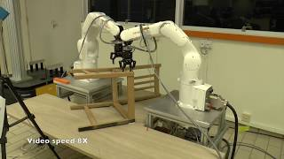 Download Robotic assembly of an IKEA chair frame Video