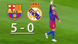 Download Barcelona vs Real Madrid (5-0) Video