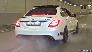 Download Supercars Go CRAZY in a Tunnel!! - Launches, Burnouts & Accelerations! Video