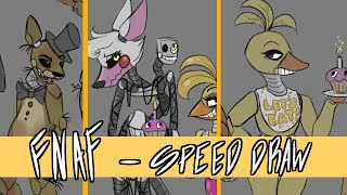 Download FNAF Characters - SPEED DRAW Video