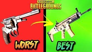 Download EVERY GUN IN PUBG RANKED WORST TO BEST! (UPDATED 2018) - PlayerUnknownsbattlegrounds Video