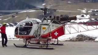 Download Air Glaciers SA-315B Lama - Flight from Saanen Airport (LSGK) to the Bernese Alps, Switzerland Video