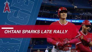 Download Shohei Ohtani sparks Angels' 9th-inning rally vs. Blue Jays Video