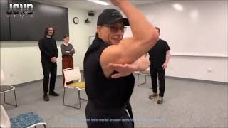 Download Jean-Claude Van Damme's First Martial Arts Basics Class at Facebook HQ Video