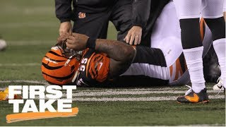 Download First Take reacts to JuJu Smith-Schuster's hit on Vontaze Burfict during MNF | First Take | ESPN Video