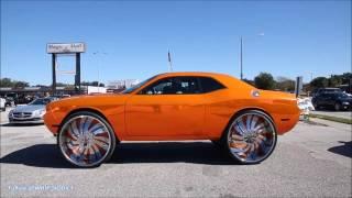 Download WhipAddict: Orange Chrome Dodge Challenger on Forgiato Girato-L 34s w/suicide doors Tate Design Video