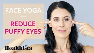 Download Face yoga exercises to reduce puffy eyes in 4 minutes Video