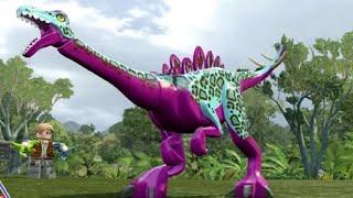 Download LEGO Jurassic World - Gallimimus Unlock Location + Gameplay (Skeleton & Custom Dinosaur Showcase) Video