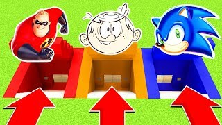 Download DO NOT CHOOSE THE WRONG SECRET BASE (INCREDIBLES 2 ,LOUD HOUSE, SONIC)PS4/XboxOne/PE/MCPE) Video