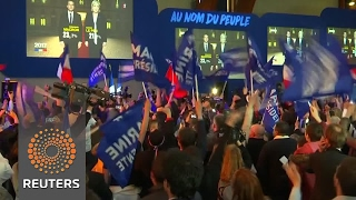 Download Projections say Macron, Le Pen in French vote runoff Video