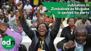 Download Jubilation in Zimbabwe as Mugabe is sacked by party Video