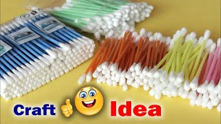 Download Genius Craft Idea Using Cotton Buds | Wall Frame Making Using Waste Material | waste mathi best easy Video